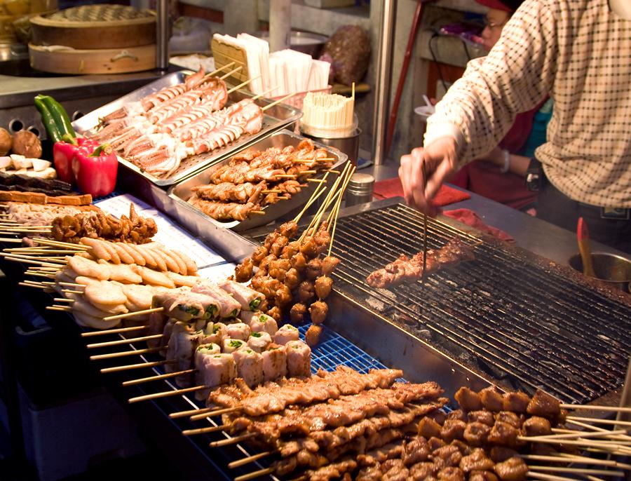 Ночной рынок, Краби, Таиланд, Азия